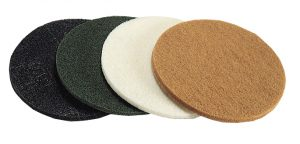Felts and sponges for scraping, cleaning, glazing